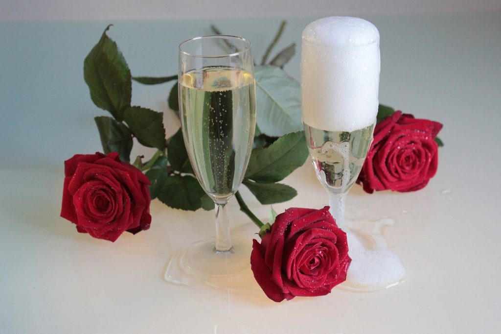 roses and champagne for your overnight stay in deal kent